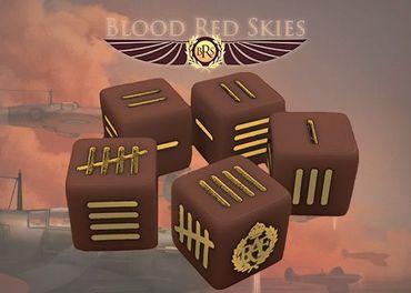 Blood Red Skies British Dice Set (10)