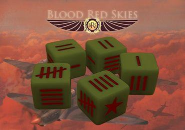 Blood Red Skies Soviet Dice Set (10)