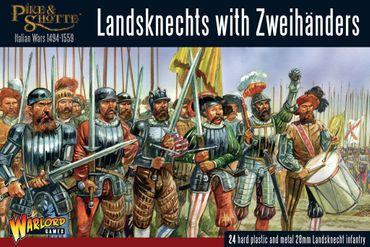 Pike & Shotte Landsknechts with Zweihanders 28mm