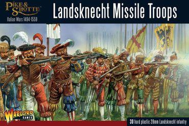 Pike & Shotte Landsknecht Missile Troops 28mm
