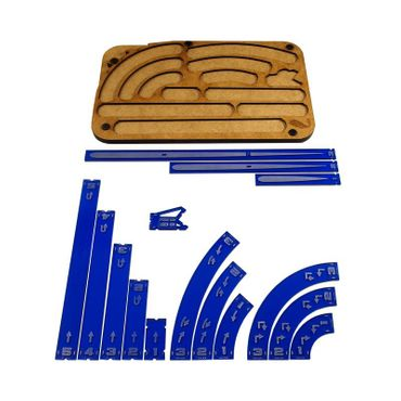 X-Wing Space Fighter Manouver Tray Navy Blue Templates – Bild 1
