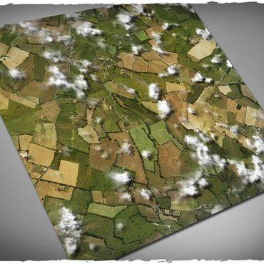 Deep Cut Studio Wargames Terrain Mat Aerial Field 4x4