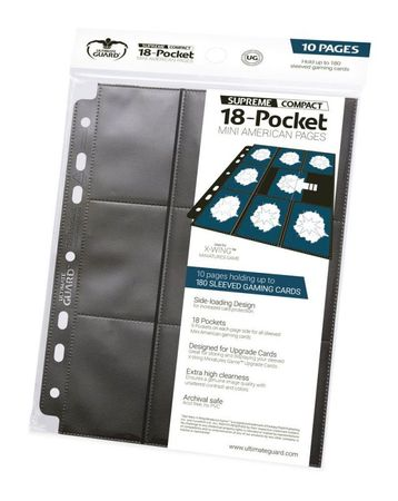 18-Pocket Compact Pages Mini American Black – Bild 1