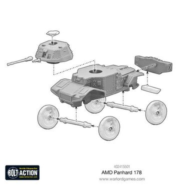 French AMD Panhard 178 Armoured Car 28mm – Bild 4