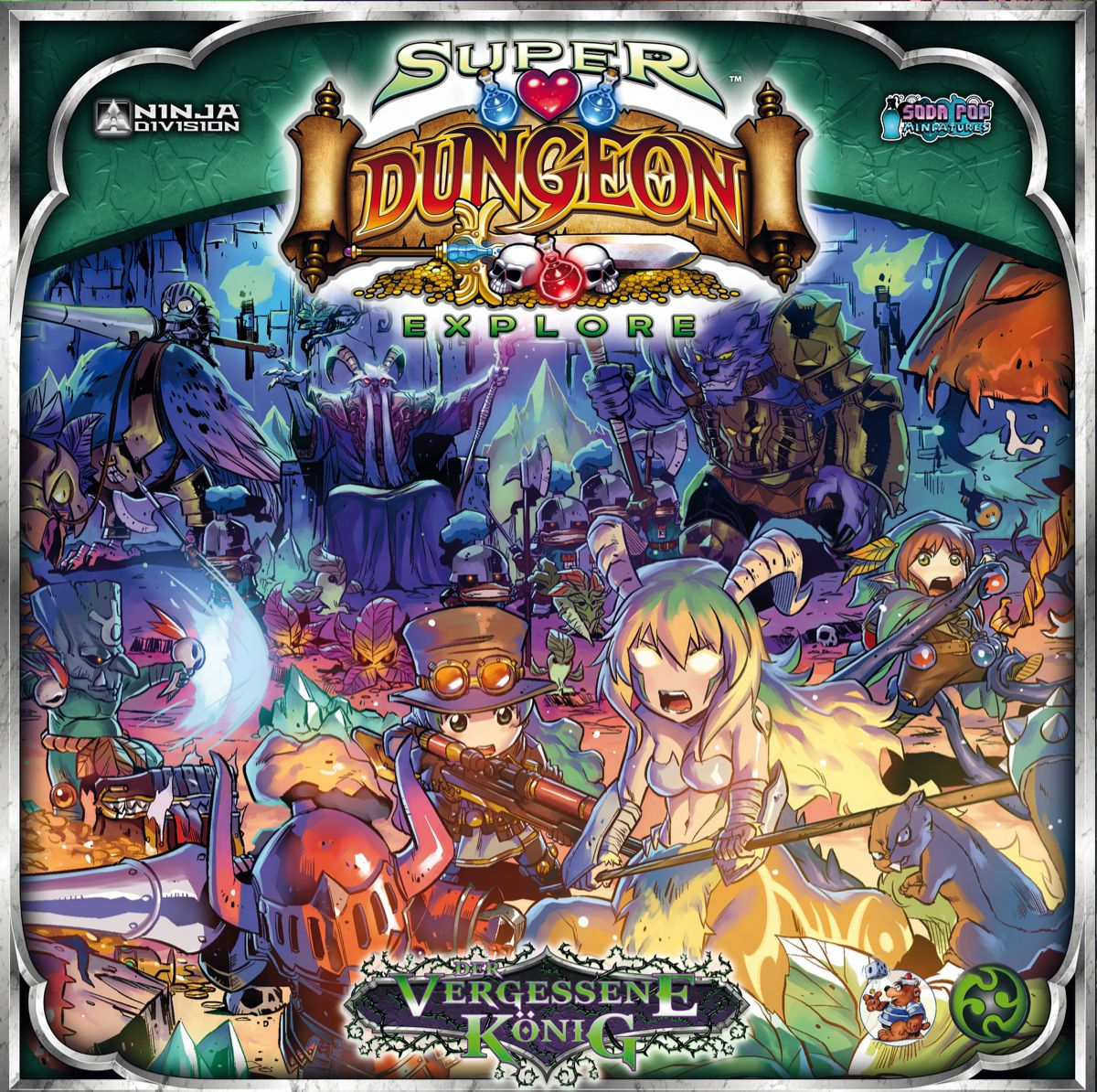 Details about Super Dungeon Explore the Forgotten King Miniature Game  (German) Board Game
