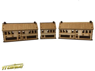 World War Shops Set 15mm