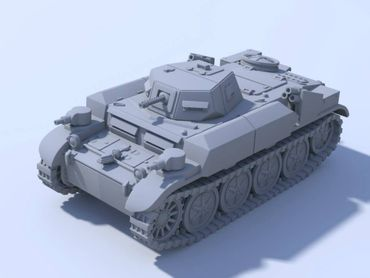 German Panzer II Flammpanzer Flamingo 28mm