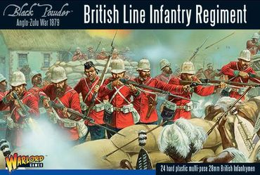 British Line Infantry Regiment Anglo Zulu War 1879 28mm