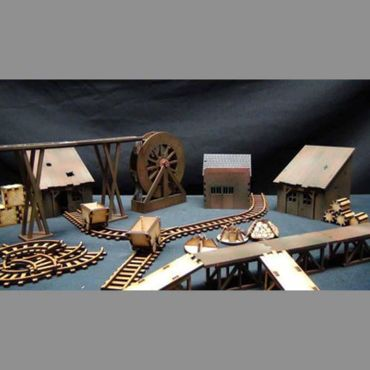 Wild West Industrial Set 28mm