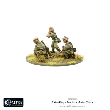German Afrika Korps Medium Mortar Team 28mm – Bild 4