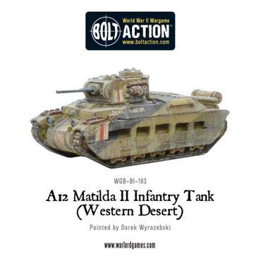 A12 Matilda II Infantry Tank Western Desert 28mm