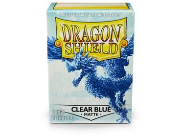 Dragon Shield Matte Clear Blue 100 protective Sleeves