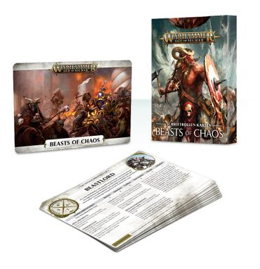 Beasts of Chaos Warscroll Cards (Deutsch)