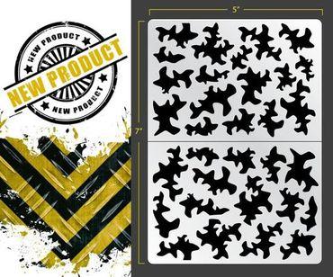 Disruptive Camo Airbrush Stencil (Camouflage)