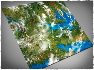 Deep Cut Studio Wargames Terrain Mat Orbital Earth 4x4