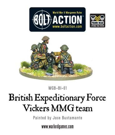BEF Vickers MMG Team 28mm