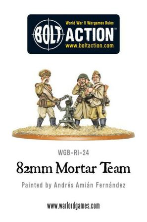 Soviet 82mm Mortar Team 28mm