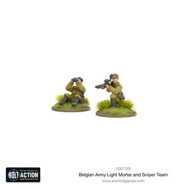 Belgian Army Light Mortar and Sniper Teams 28mm – Bild 2