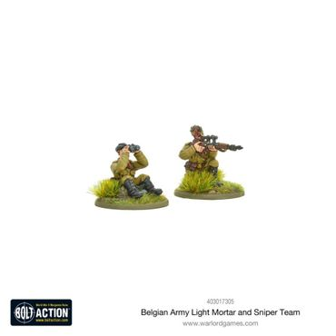 Belgian Army Light Mortar and Sniper Teams 28mm – Bild 3