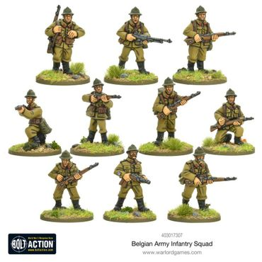 Belgian Army Infantry Squad 28mm – Bild 1