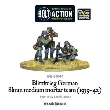 Blitzkrieg German 81mm Medium Mortar Team (1939-42) – Bild 2