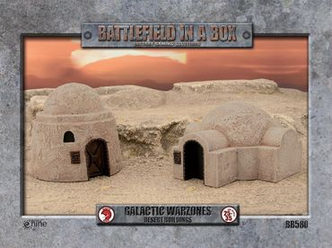 Battlefield in a Box Galactic Warzones Desert Buildings – Bild 1