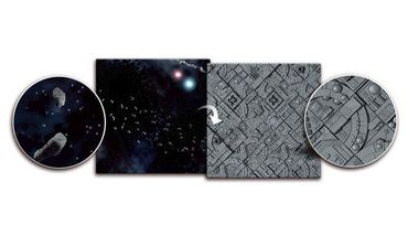 Gaming Mat Asteroid Field / Space Station 3x3 Two Sided