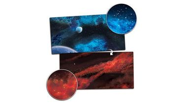 Gaming Mat Crimson Gas Giant / Frozen Star System 3x6 Two Sided