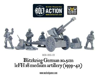 Blitzkrieg German 10.5cm leFH 18 Medium Artillery (1939-42) – Bild 2