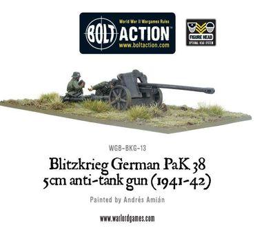 Blitzkrieg German Pak 38 5cm Anti-Tank Gun (1941-42) – Bild 2