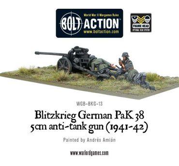 Blitzkrieg German Pak 38 5cm Anti-Tank Gun (1941-42) – Bild 3