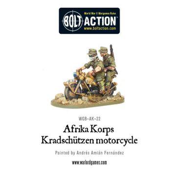 Afrika Korps Kradschutzen Motorcycle 28mm – Bild 1