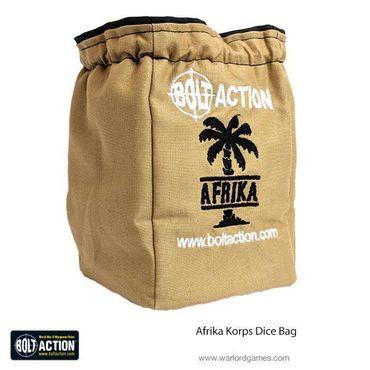 Bolt Action Afrika Korps Dice Bag and Sand Order Dice (12) – Bild 1