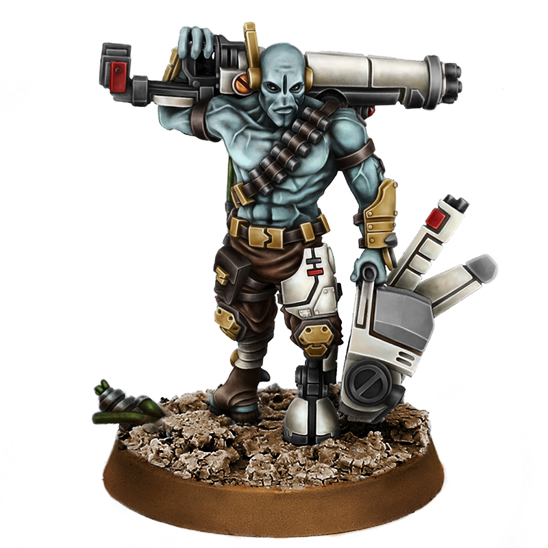 Details about Wargame Exclusive Greater Good Squad Leader Ghost Wargames  Miniature 1 3/32in