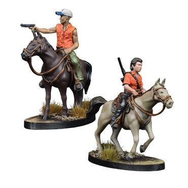 The Walking Dead Maggie and Glenn on Horseback Booster (Englisch) All Out War