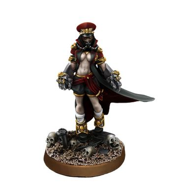 Imperial Soldiers Female Commissar With Fists Of Power Pin-Up