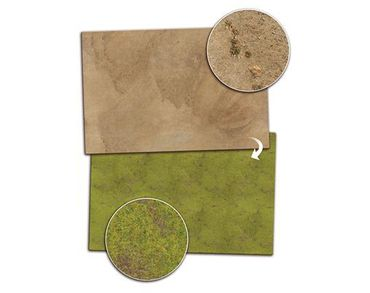 Gaming Mat Grassland / Desert 4x6 Two Sided – Bild 1