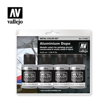 Vallejo Metal Color Aluminium Dope Set 77.603 (Gesamt 128ml) – Bild 1
