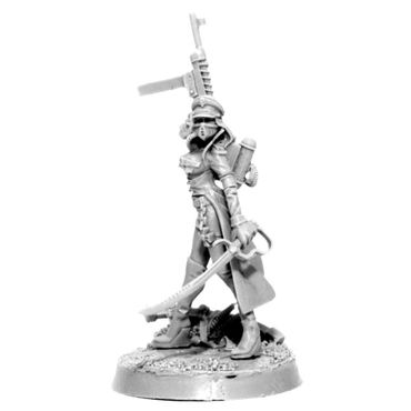 Imperial Soldier Female Commissar With Laser Pistol – Bild 2