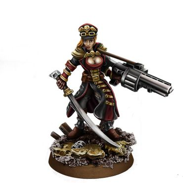 Imperial Soldier Female Commissar With Grenade Launcher