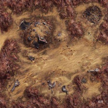 Star Wars Legion Desert Junkyard Gamemat 3x3