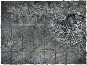 Deep Cut Studio Wargames Terrain Mat City Ruins 4x6 – Bild 2