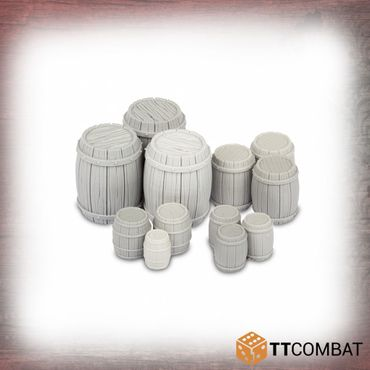 Wooden Barrels 28mm
