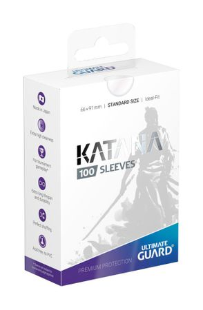 Katana Sleeves Standard Transparent 100