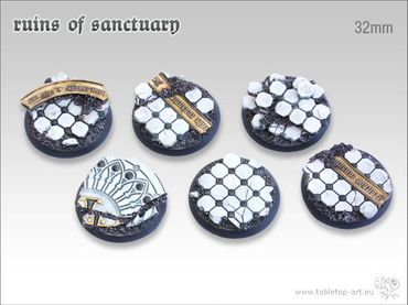 Ruins of Sanctuary 32mm Rundbases (5)