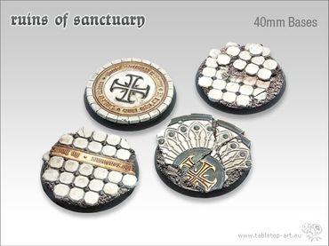Ruins of Sanctuary 40mm Rundbases (2)