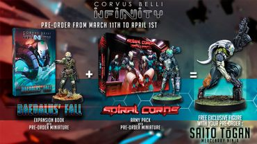 Infinity Adepticon Bundle 2019 (Spiral Corps + Hatail Spec-Ops + Daedalus'Fall + Saito Togan) EN