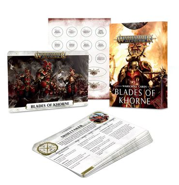 Blades of Khorne Warscroll Cards (Deutsch)