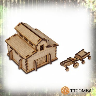 World War Barn 15mm