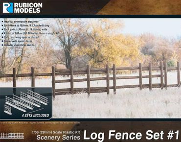 Log Fence Set 1 Scenery Series 1/56 28mm